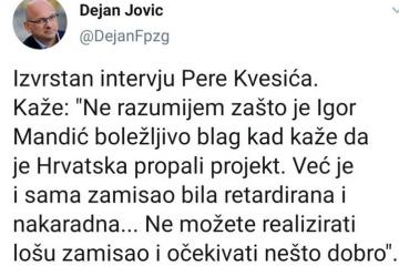 Bulj reagirao na Jovićevu podršku Kvesiću i pisao Plenkoviću: Očekujem prestanak financiranja SNV-a