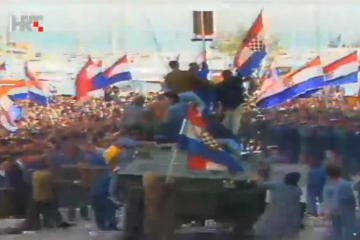 Na današnji dan 1991. – Demonstracije u Splitu jasno su pokazale raspoloženje hrvatskoga naroda u Dalmaciji