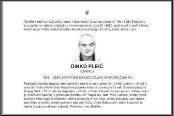 Posljednji pozdrav ratniku - Dinko Pleić