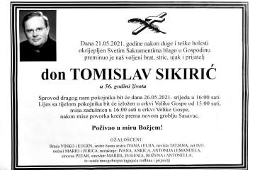 Posljednji pozdrav -  don Tomislav Sikirić