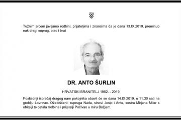Posljednji pozdrav ratniku - dr. Anto Šurlin