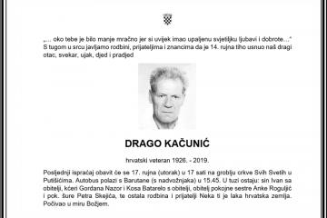 Posljednji pozdrav ratniku - Drago Kačunić