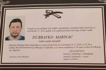 Posljednji pozdrav ratniku - Dubravko Marinac