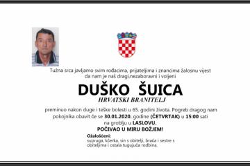 Posljednji pozdrav ratniku - Duško Šuica