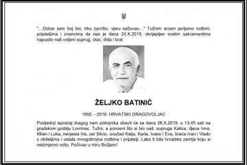 Posljednji pozdrav ratniku - Željko Batinić