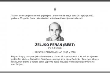 Posljednji pozdrav ratniku - Željko Peran (Best)
