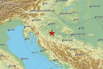 Dva potresa u središnjoj Hrvatskoj, novi je magnitude 3.4