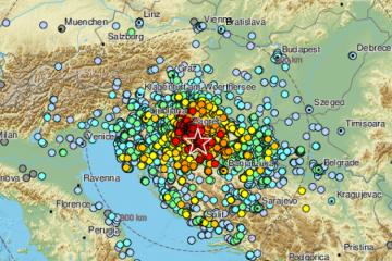 EMSC pobrojao čak 291 potres nakon glavnog udara u Petrinji, objavili i usporedbu sa zagrebačkim potresom
