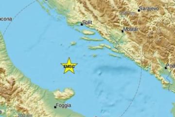 HRVATSKA SE I DALJE TRESE Snažan potres usred Jadranskog mora, osjetio se diljem Dalmacije i u Italiji!