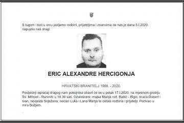 Posljednji pozdrav ratniku - Eric Alexandre Hercigonja
