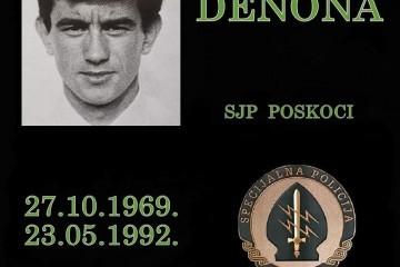 28. godišnjica pogibije Svete Denone, pripadnika Specijalne policije Poskoci