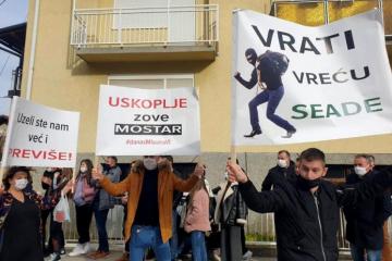 U Uskoplju prosvjed Hrvata zbog navodne izborne krađe