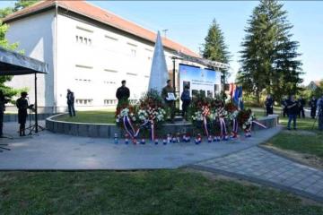 Božinović u Glini: Hrvatski policajci bili prvi heroji obrane od agresora