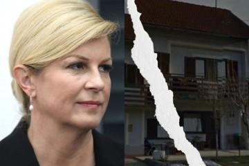 Grabar-Kitarović: Izgradit ćemo novi dom za obitelj Radošević i njihovo 6-ero djece