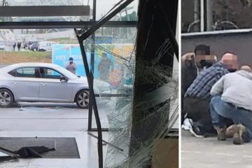 Drama u Gračanima: 'Autom se zabio u šoping centar, a prije toga se tukao i razbijao'