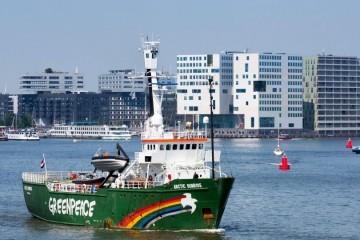 Aktivisti Greepeacea ispisali na krčkom LNG terminalu: 'Ubojice klime'