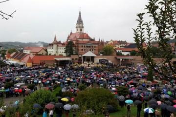 """UDHOS """"BARANJA"""" u nedjelju 6. 10. 2019. su sudjelovali na 27. hodočašću u Mariji Bistrici"""