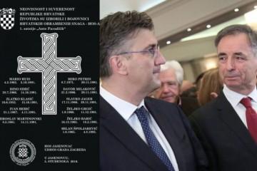(FOTO) Zašto je premještena spomen-ploča poginulim HOS-ovcima iz Jasenovca?
