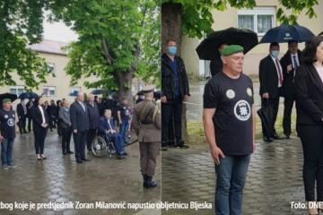 """Incident u Okučanima! Milanović napustio obljetnicu Bljeska zbog natpisa Za dom spremni: """"Ovo se na žalost moralo dogoditi jer je netko htio da se dogodi"""""""