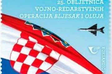 Hrvatska pošta    u povodu 25. obljetnice vojno-redarstvenih operacija Bljesak i Oluja izdaje novu poštansku marku