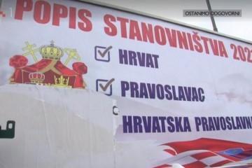 Popis stanovništva: Što i tko stoji iza plakata s potpisom Udruga hrvatskih pravoslavnih branitelja?