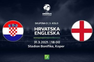 OD 18:00 U-21 HRVATSKA - ENGLESKA Hrvatska u drami zadnjega kola traži četvrtfinale - prijenos pratite na HRT2