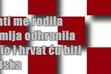 Živjela Hrvatska! Milorade i Gordane u čemu je problem?