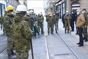 150 pripadnika Hrvatske vojske od ranih jutarnjih sati nastavlja pomagati Zagrebu