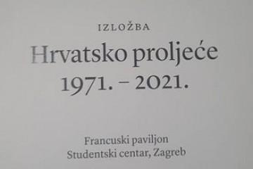 IZLOŽBOM '50 GODINA HRVATSKOG PROLJEĆA' U STUDENTSKOM CENTRU