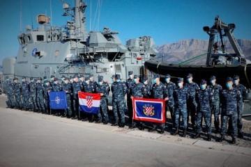 """Četvrti HRVCON ispraćen u NATO-ovu operaciju """"Sea Guardian"""""""