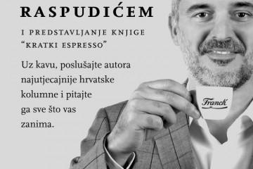 """Poziv na kavu s Ninom Raspudićem i predstavljanje knjige """"Kratki espresso"""""""