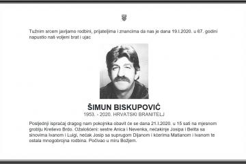 Posljednji pozdrav ratniku - Šimun Biskupović