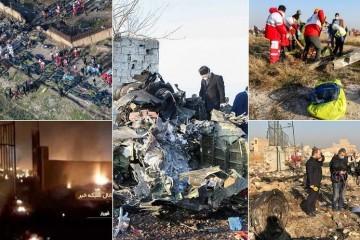 NEMA PREŽIVJELIH  VELIKA ZRAKOPLOVNA NESREĆA U IRANU Neposredno nakon polijetanja u Teheranu se srušio ukrajinski Boeing 737 sa 176 putnika, pojavila se snimka pada