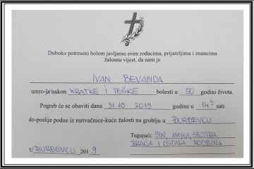 Posljednji pozdrav ratniku - Ivan Bevanda