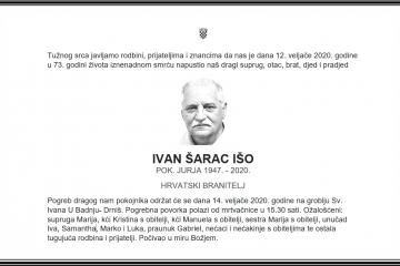 Posljednji pozdrav ratniku - Ivan Šarac Išo
