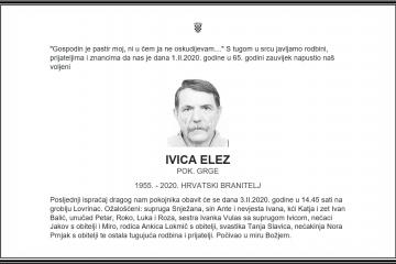Posljednji pozdrav ratniku - Ivica Elez