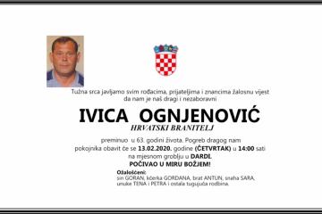 Posljednji pozdrav ratniku - Ivica Ognjenović