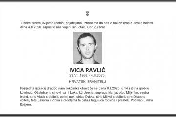 Posljednji pozdrav ratniku - Ivica Ravlić