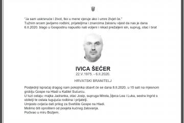 Posljednji pozdrav ratniku - Ivica Šećer
