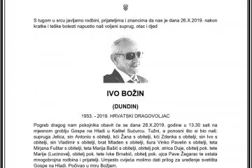 Posljednji pozdrav ratniku - Ivo Božin