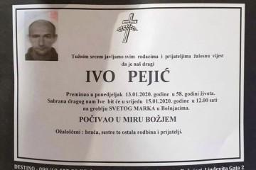 Posljednji pozdrav ratniku - Ivo Pejić