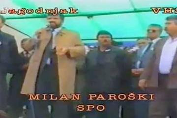 Srpski miting mržnje u Jagodnjaku 21. travnja 1991. godine