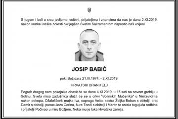 Posljednji pozdrav ratniku - Josip Babić