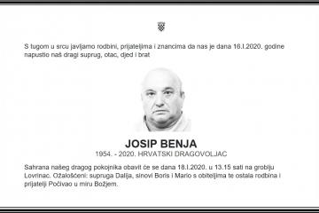 Posljednji pozdrav ratniku - Josip Benja