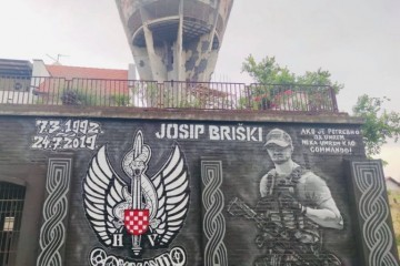 BBB Vukovar muralom odali počast hrvatskom vojniku Josipu Briškom, stradalom u Afganistanu