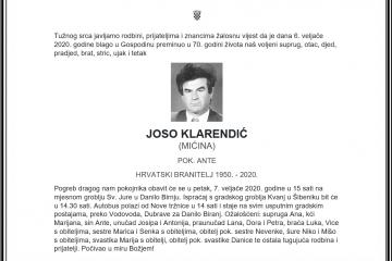 Posljednji pozdrav ratniku - Joso Klarendić