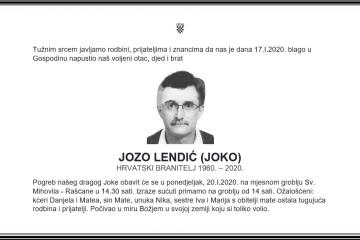 Posljednji pozdrav ratniku - Jozo Lendić-Joko