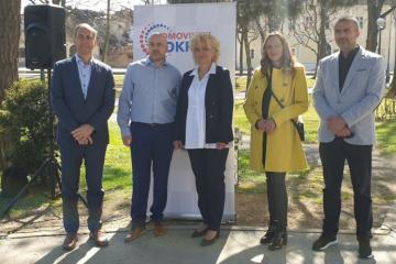 Predstavljena kandidatkinja Domovinskog pokreta za gradonačelnicu Petrinje Vesna Brebrić