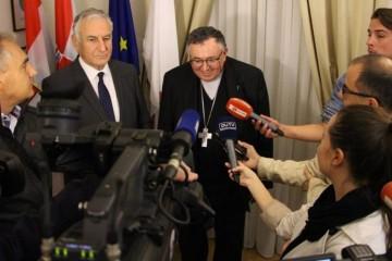 Kardinal Vinko Puljić s Dobroslavićem i Frankovićem o položaju Hrvata u BiH