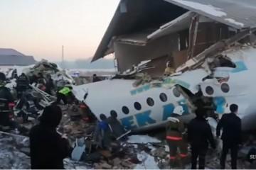 (FOTO, VIDEO) Tragedija u Kazahstanu: Srušio se putnički zrakoplov, najmanje 14 poginulih